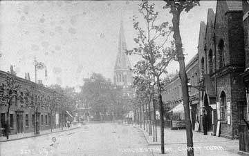 Manchester Road looking towards Christ Church