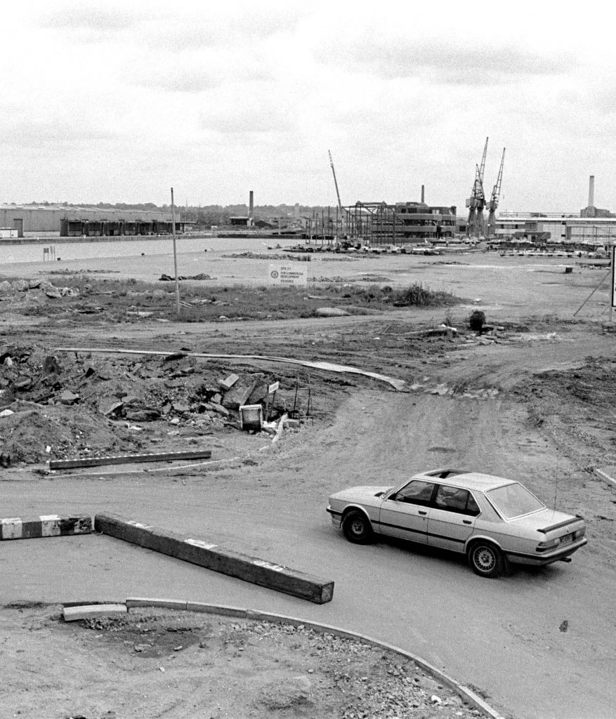 The Millwall Docks in 1984