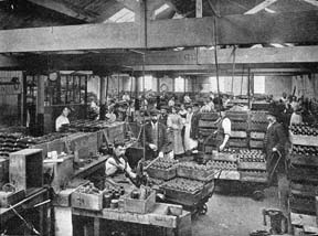 inside Mortons confectionery factory in Westferry Road