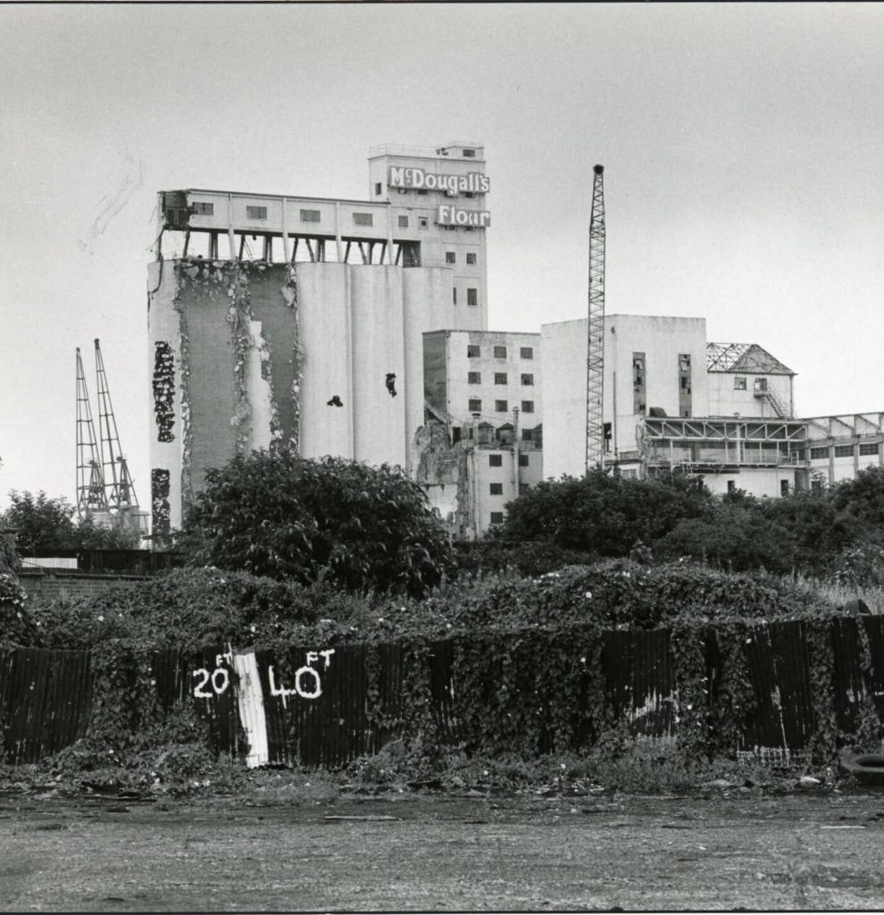 mill and silos on the Island demolition